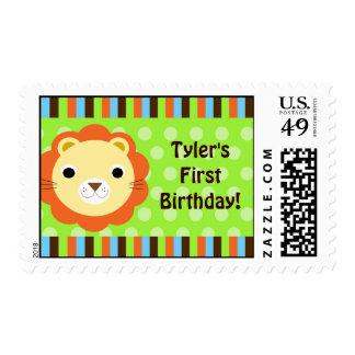 Cute Modern Lion Stamp