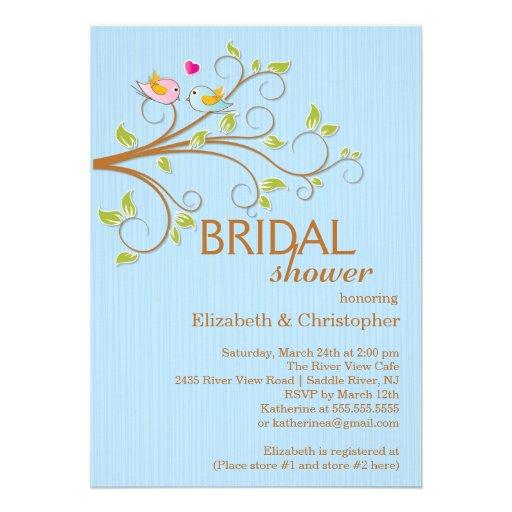Personalized autumn love invitations for Modern bridal shower invitations