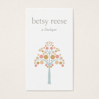 Cute Modern Pastel Tree Children's Business Card