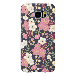 Cute Modern Spring Flower Pattern Girly Floral Samsung Galaxy S6 Case
