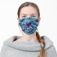 Cute Modern Trendy Camo Reusable Cloth Face Mask