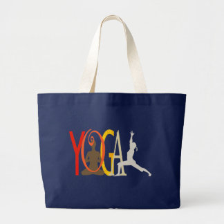 Cute Modern Yoga Spirited Designer Large Tote Bag