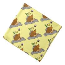 cute mole cartoon with a flower bee bandana