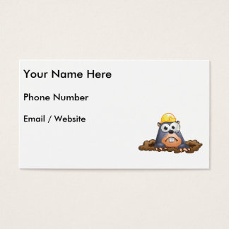 Cute Mole Digging Cartoon Business Card