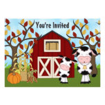 Cute Mom and Baby Cow Autumn Baby Shower Invite