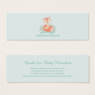 Mom business cards templates zazzle cute mom and baby fox boy baby shower book request mini business card colourmoves