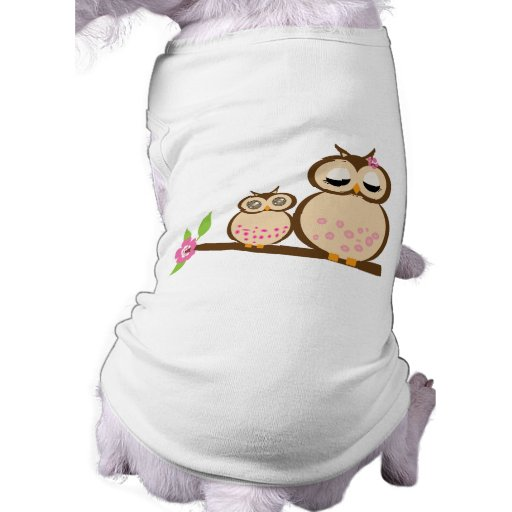 Cute mom and baby owl dog clothing