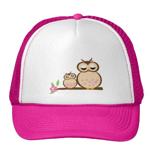 Cute mom and baby owl hat
