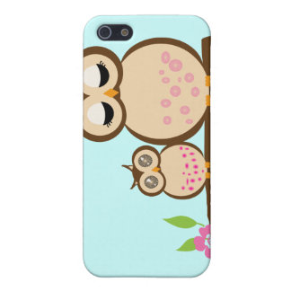 Cute mom and baby owl iPhone SE/5/5s case