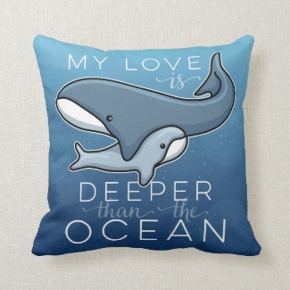 Cute Mom and Baby Whale, Love is Deeper than Ocean
