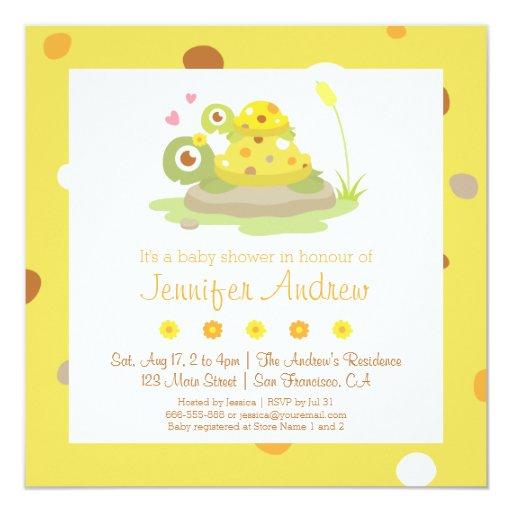 cute mom and child turtle baby shower invitations zazzle