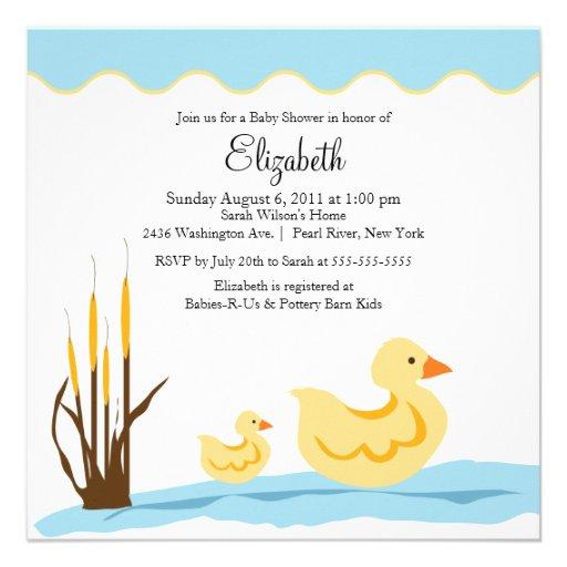 cute mom baby duck baby shower invitation square invitation