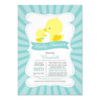 Cute Mom Baby Ducks Neutral Boys Baby Shower Card