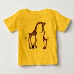 Cute Mom & Baby Giraffe Baby T-Shirt