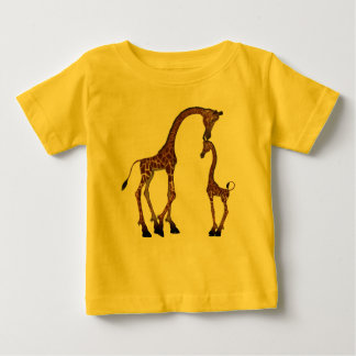 Cute Mom & Baby Giraffe Baby T-Shirt