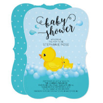 Cute Mom Duck & Baby Shower Invitation