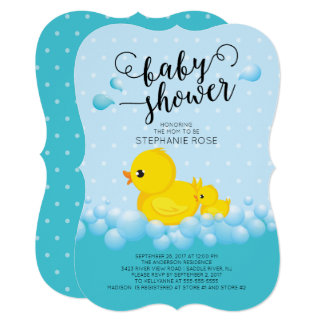 Duck Baby Shower Invitations Announcements Zazzle