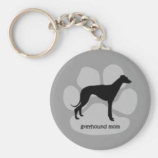 Cute mom Greyhound Keychain