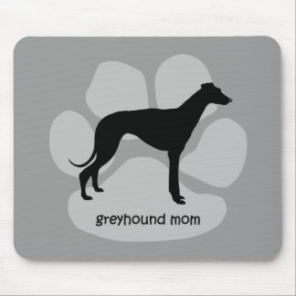 Cute mom Greyhound Mouse Pad