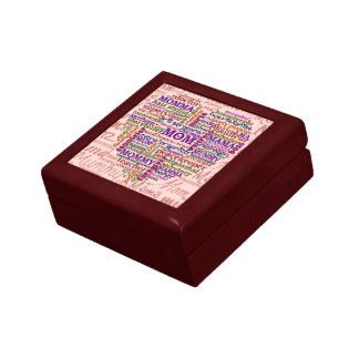 Cute Mom Mother s Day Word Art Heart Keepsake Boxes
