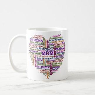 Cute Mom Mother's Day Word Art Heart Classic White Coffee Mug