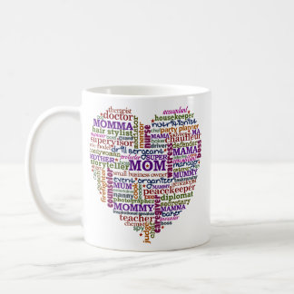 Cute Mom Mother's Day Word Art Heart Coffee Mug