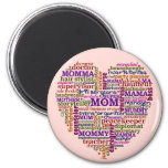 Cute Mom Mother's Day Word Art Heart Magnets