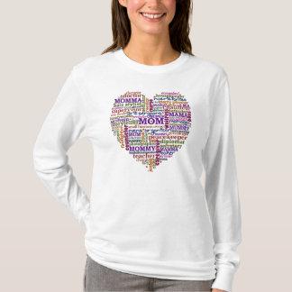 Cute Mom Mother's Day Word Art Heart T-Shirt