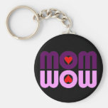 Cute Mom reflection with hearts Key Chains