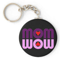 Cute Mom reflection with hearts Keychain