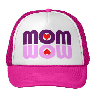 Cute Mom reflection with hearts Trucker Hat