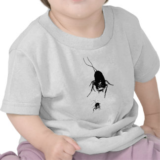 Cute momma and baby cockroach on baby shirt