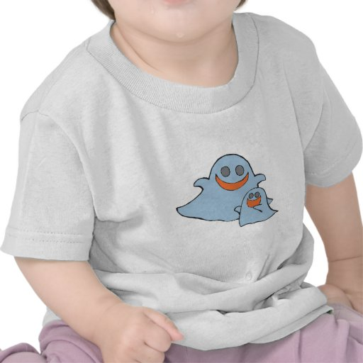 cute momma and baby ghosts tees
