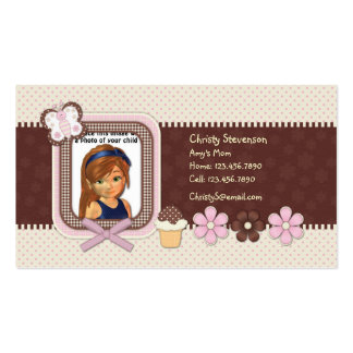 Cute Mommy Calling Card Business Card Template