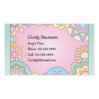 Cute Mommy Calling Card pocket calendar Business Card Templates