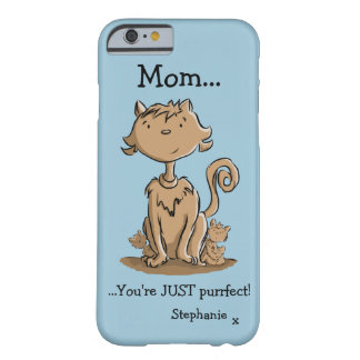 Cute Mommy Cat and Kittens Barely There iPhone 6 Case