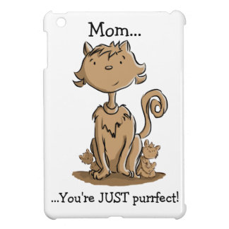 Cute Mommy Cat and Kittens Case For The iPad Mini