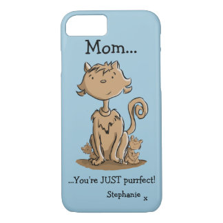 Cute Mommy Cat and Kittens iPhone 7 Case