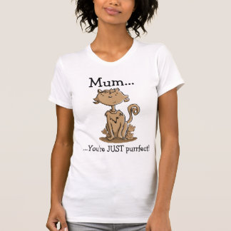 Cute Mommy Cat and Kittens T-Shirt
