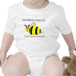 Cute Mommy Loves Me Bumble Bee Infant Shirt Baby Bodysuit