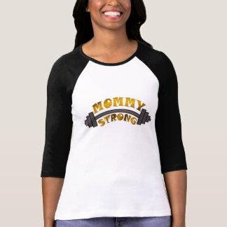 cute mommy strong t-shirt design mother's day gift