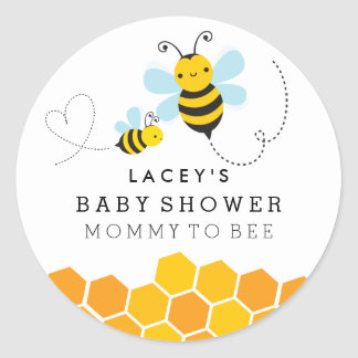 Cute Mommy To Bee Baby Shower Sticker