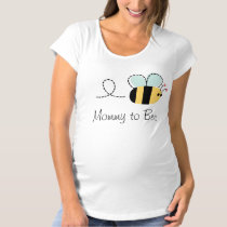 Cute mommy to bee maternity bumble bee tee