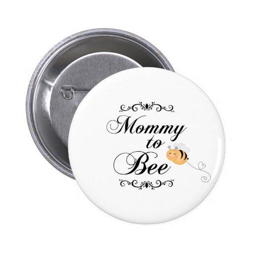 Cute mommy to bee swirls pinkback button