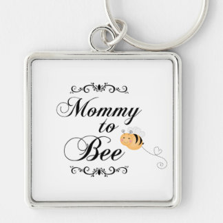 Cute mommy to bee swirls premium square keychain