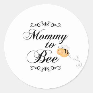 Cute mommy to bee swirls sticker