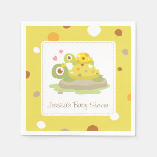 Cute Mommy Turtle Baby Shower Party Supplies Standard Cocktail Napkin