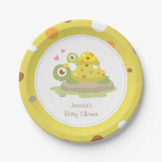 Cute Mommy Turtle Baby Shower Party Supplies 7 Inch Paper Plate