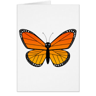 Cute Monarch Butterfly Greeting Card