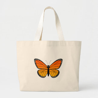 Cute Monarch Butterfly Large Tote Bag